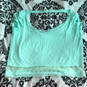 Tealish crop top